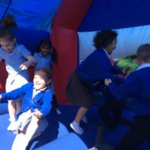 Pupils keep bouncing to raise money